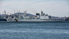 Швартовка патрульного корабля. Архивное фото