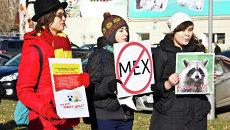Антимеховой митинг в Томске, событийное фото