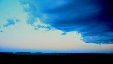 Меняющаяся погода в тывинской степи, архивное фото