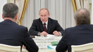 В.Путин встретился с руководителями непарламентских партий, фото с места событий