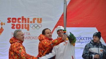 Эстафета Олимпийского огня в Красноярском крае