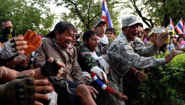 Столкновения в Таиланде. Фото с места события