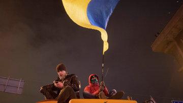 Протесты сторонников евроинтеграции Украины. Фото с места событий