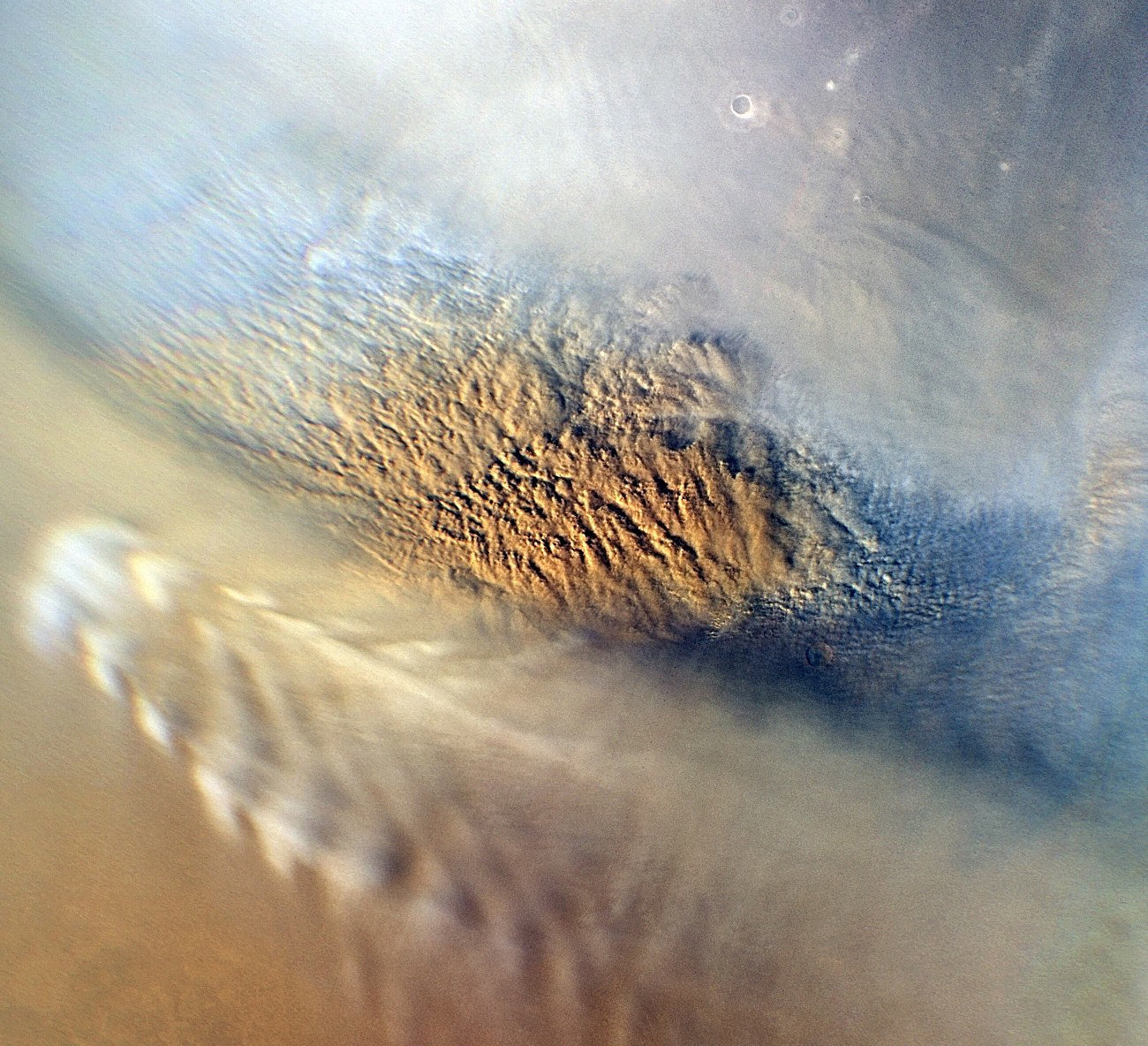 the atmosphere surface and dust storms of mars Mars appears red in color because of refraction of light by its atmosphere, much like the color of the totally eclipsed moon false winds on mars give rise to planet-wide dust storms.