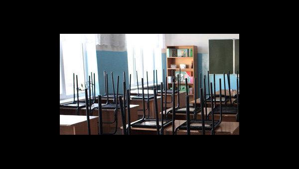 Пустой школьный класс, архивное фото