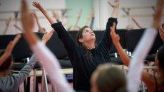 Открытый урок по танцу модерн в Академии танца Бориса Эйфмана. Архивное фото
