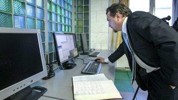 В Институте ядерной физики им. Г.И. Будкера СО РАН. Архивное фото
