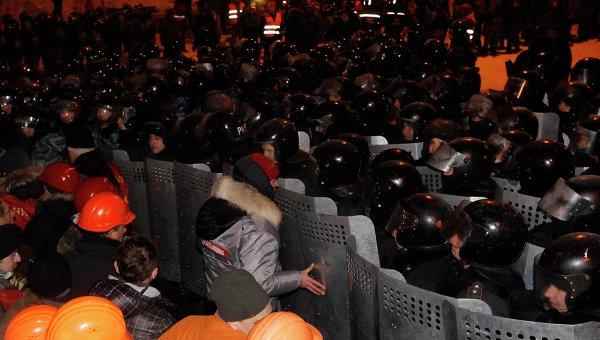 Начало штурма Майдана. Фото с места событий