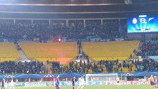 Фанаты ФК Зенит устроили беспорядки  на матче в Вене. Съемка очевидцев