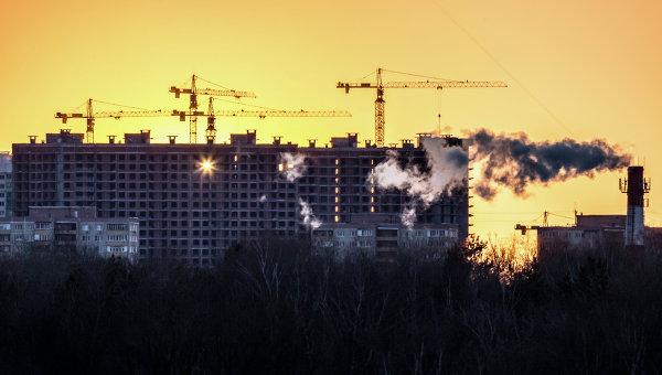 Строительство в Москве, архивное фото