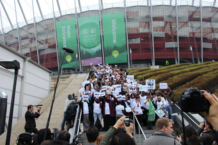 Демарш экологов на переговорах ООН в Варшаве