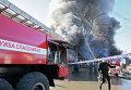 В Грозном горит центральный рынок
