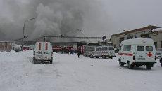 Пожар на птицефабрике Томска, фото с места события.