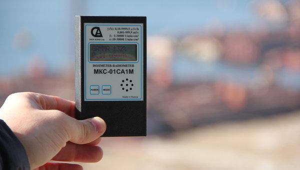 Измерение уровня радиации. Архивное фото