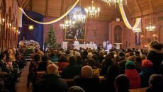 В ночь на Рождество: торжественная месса новосибирских католиков