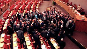 Совещание фракции КПРФ на заседании Государственной Думы. Архивное фото