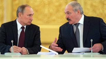 Александр Лукашенко и Владимир Путин. Архив