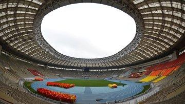 Стадион Лужники, где идет реконструкция к чемпионату мира по футболу 2018. Архив
