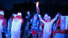 Мать-героиня с детьми пронесла факел Олимпиады в Самаре