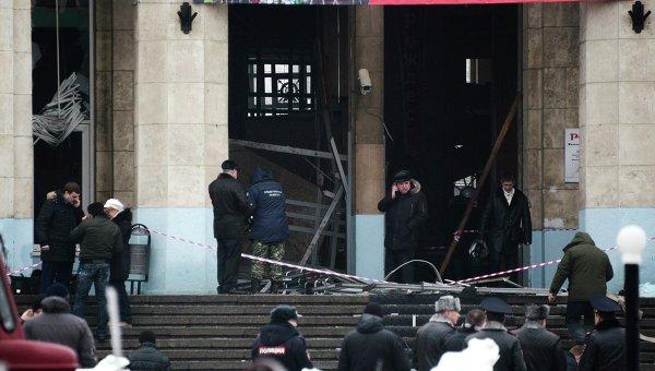 На месте теракта на железнодорожном вокзале в Волгограде