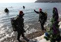 Владивостокские дайверы отметили Новый год под водой