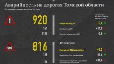 Аварийность на дорогах в Томской области (по данным Госавтоинспекции на 2013 год)