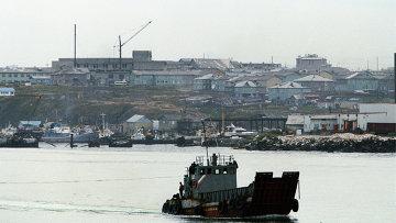 Город Южно-Курильск на острове Кунашир. Архивное фото