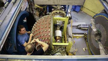 Коллайдеры в институте ядерной физики в Новосибирске, архивное фото