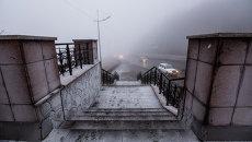 Январский туман во Владивостоке