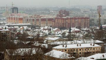Вид на Ленинский район Новосибирска зимой. Архивное фото