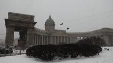 Снегопад в Петербурге