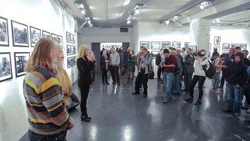 Открытие выставки Манифест ТРИВА в Сибирском центре современного искусства в Новосибирске