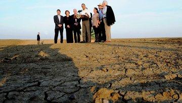 Барак Обама побывал в Калифорнии, которая страдает от засухи. Фото с места события