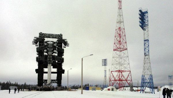 Макет ракетного комплекса Ангара на космодроме Плесецк, архивное фото