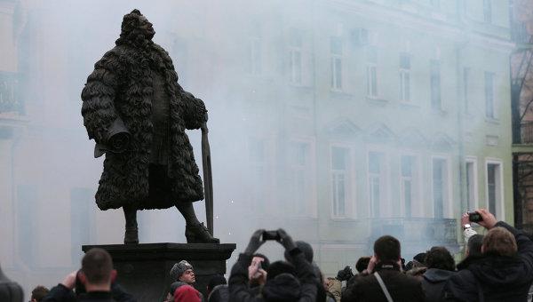 Открытие памятник Доменико Трезини в Петербурге