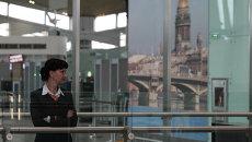 В новом терминале аэропорта Пулково в Петербурге. Архивное фото