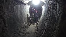 Велосипедисты соревновались в тоннелях Владивостокской крепости