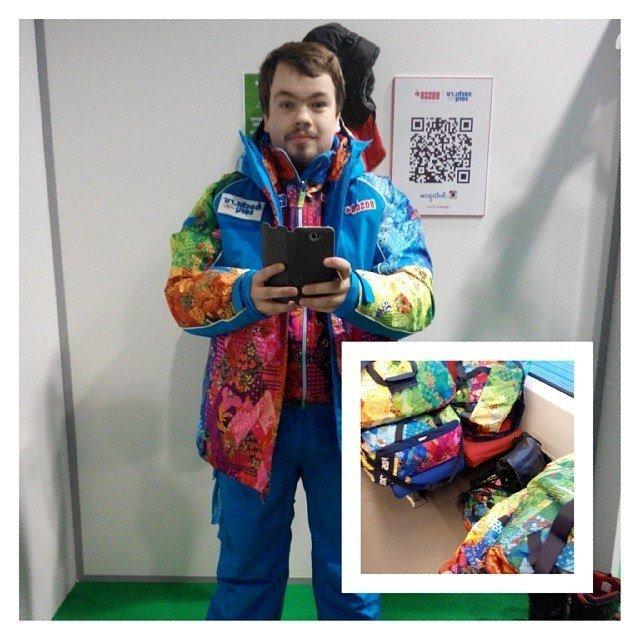 Волонтер из Томска Дмитрий Далингер на Олимпиаде в Сочи