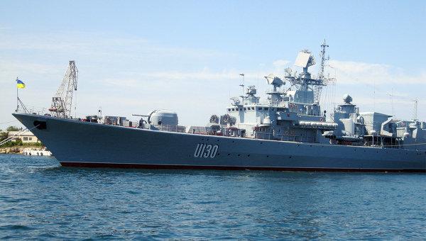 Флагман Военно-морских сил Украины фрегат Гетман Сагайдачный