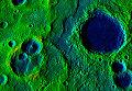Один из дольчатых откосов, которые возникают на поверхности Меркурия в результате охлаждения и сжатия его ядра