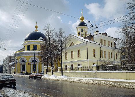 Москва Большая Ордынка храм купола памятник