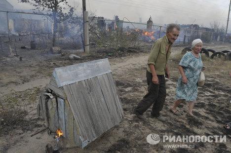 Воронеж в кольце лесных пожаров