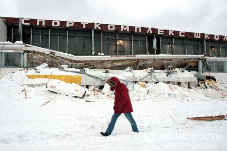 Обрушение кровли в спорткомплексе в Петербурге