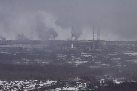 Вид на Байкальский целлюлозно-бумажный комбинат