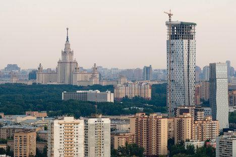 Строящийся жилой комплекс Дом на Мосфильмовской