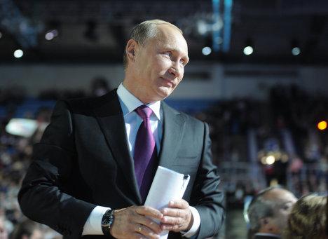 Премьер-министр РФ В. Путин на XII Съезде Единой России