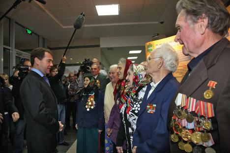 Президент РФ Д.Медведев в Козельске