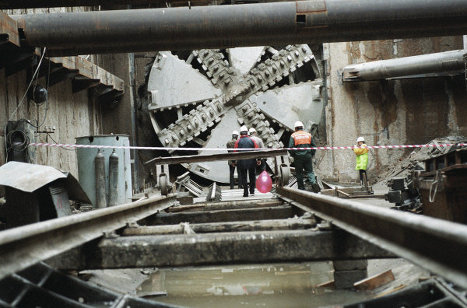 Проходческий щит на строительстве Бутовской линии метро