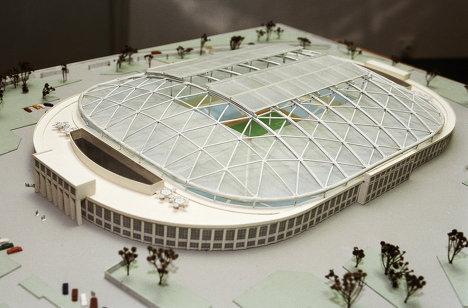 Макет реконструкции стадиона Динамо