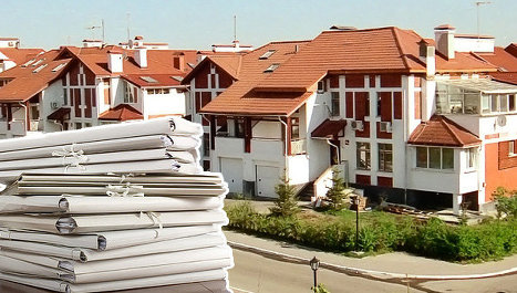 коттедж, документы, бумаги, поселок, одноэтажное жилье, загородка